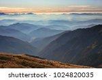 beautiful autumn dawn landscape ...   Shutterstock . vector #1024820035