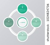circle infographic template... | Shutterstock .eps vector #1024824736
