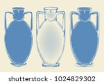 vector sketch three antique... | Shutterstock .eps vector #1024829302