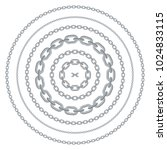 cartoon chains in circles in... | Shutterstock .eps vector #1024833115