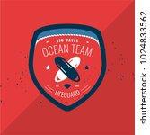 modern lifeguard red badge | Shutterstock .eps vector #1024833562