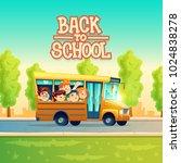 back to school vector concept... | Shutterstock .eps vector #1024838278