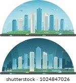 day and night urban landscape.... | Shutterstock .eps vector #1024847026