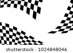checkered racing flag isolated... | Shutterstock .eps vector #1024848046