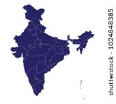 india map  blue geometric... | Shutterstock .eps vector #1024848385