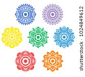 color mandalas on the human... | Shutterstock .eps vector #1024849612
