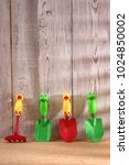 Small photo of Garden tools for children to instill in children a new passion that can be gardening.
