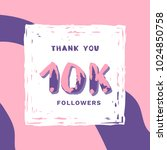 10k followers thank you square... | Shutterstock .eps vector #1024850758