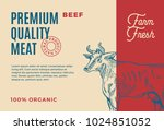 premium quality beef. abstract... | Shutterstock .eps vector #1024851052