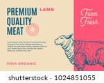 premium quality lamb. abstract...   Shutterstock .eps vector #1024851055