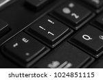 black computer keyboard close... | Shutterstock . vector #1024851115