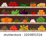 shop or store stall or stand ...   Shutterstock .eps vector #1024851526