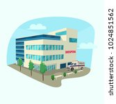 clinic or hospital building... | Shutterstock .eps vector #1024851562