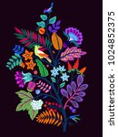 vector oriental motif of... | Shutterstock .eps vector #1024852375
