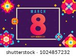 creative style 8 of march... | Shutterstock .eps vector #1024857232