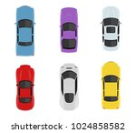 transport set from above  top... | Shutterstock .eps vector #1024858582