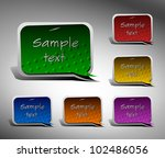 vector stickers for text | Shutterstock .eps vector #102486056