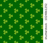 rich green clover leaves vector ... | Shutterstock .eps vector #1024861252