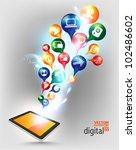 modern conceptual digital... | Shutterstock .eps vector #102486602