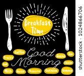 breakfast time logo  fork ... | Shutterstock .eps vector #1024866706