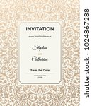 vintage wedding invitation... | Shutterstock .eps vector #1024867288