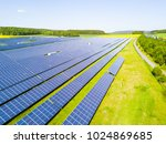 aerial view of solar power... | Shutterstock . vector #1024869685