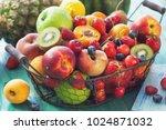 fresh healthy organic fruits  | Shutterstock . vector #1024871032