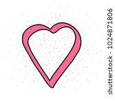handrawn heard on white...   Shutterstock .eps vector #1024871806