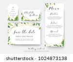 wedding floral save the date ... | Shutterstock .eps vector #1024873138