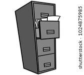 filing cabinet illustration   a ...   Shutterstock .eps vector #1024875985