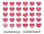 very accurate hearts emoticon...   Shutterstock .eps vector #1024876645