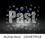 time concept  glowing text past ... | Shutterstock . vector #1024879018
