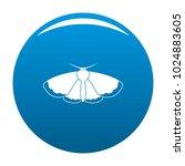moth icon vector blue circle...   Shutterstock .eps vector #1024883605