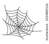 spooky spiderweb icon. outline... | Shutterstock .eps vector #1024885126