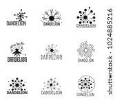 dandelion icons set. simple set ... | Shutterstock .eps vector #1024885216
