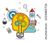 creative mind set icons | Shutterstock .eps vector #1024885726