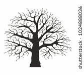 tree silhouette on white... | Shutterstock .eps vector #1024888036