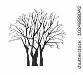 tree silhouette on white... | Shutterstock .eps vector #1024888042
