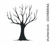 tree silhouette on white... | Shutterstock .eps vector #1024888066