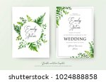 wedding floral watercolor style ... | Shutterstock .eps vector #1024888858
