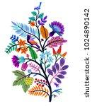 vector oriental motif of... | Shutterstock .eps vector #1024890142