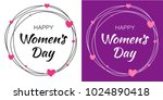 womens day set of design... | Shutterstock .eps vector #1024890418