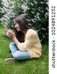 beautiful teenager girl with... | Shutterstock . vector #1024891252