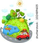summer travel | Shutterstock .eps vector #102489605