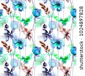 seamless pattern with summer...   Shutterstock . vector #1024897828