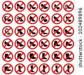 womens shoes warning sign icon... | Shutterstock .eps vector #102489896