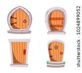 set of cartoon fairy tale... | Shutterstock .eps vector #1024899052