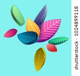 composition of colorful... | Shutterstock .eps vector #1024899118