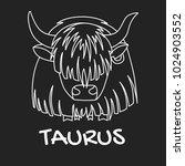 taurus zodiac sign for... | Shutterstock .eps vector #1024903552