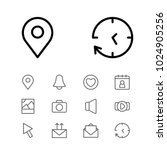 network icons set with pin ... | Shutterstock .eps vector #1024905256